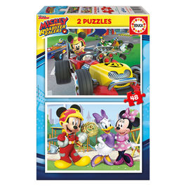 Puzzle Mickey and The Roadster Racers Disney 2x48pz