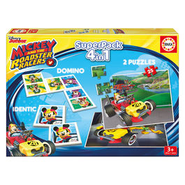 Superpack Mickey and The Roadster Racers Disney 4 en 1