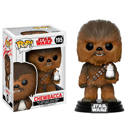 Figura Bobble POP! Star Wars Episode VIII The Last Jedi Chewbacca with Porg